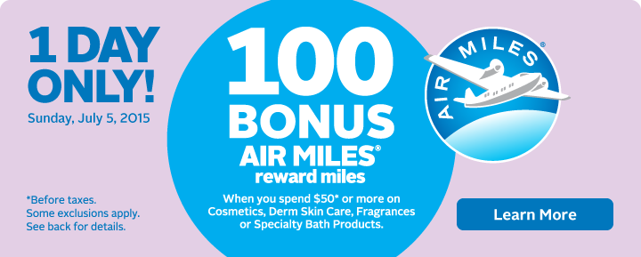 Bonus AIR MILES on Beauty