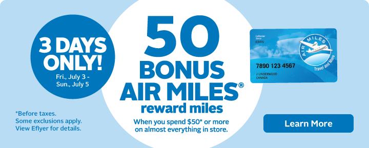 Bonus AIR MILES
