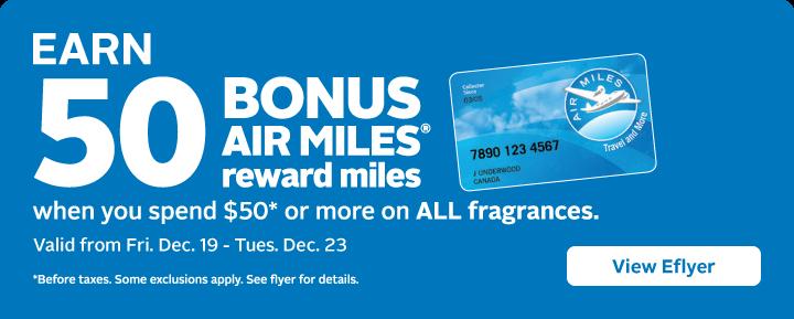 Bonus AIR MILES on Fragrance