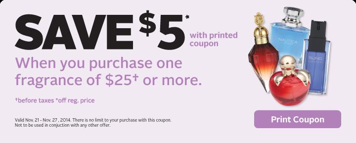 Save $5 on Fragrance
