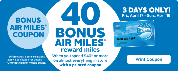 AIR MILES Coupon